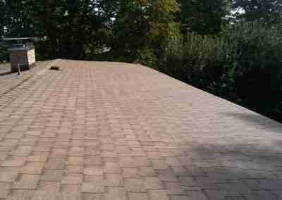 Low slope shingle roof