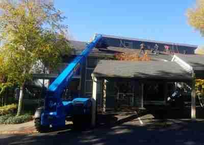 Portland roofers vehicle