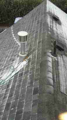 Steep architectural shingle roofing
